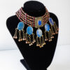 lapis lazuli kuchi locket necklace